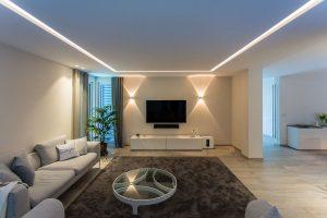 Lichtvoute Wohnzimmer modern