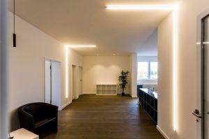 LED Lichtlinie Empfangsbereich